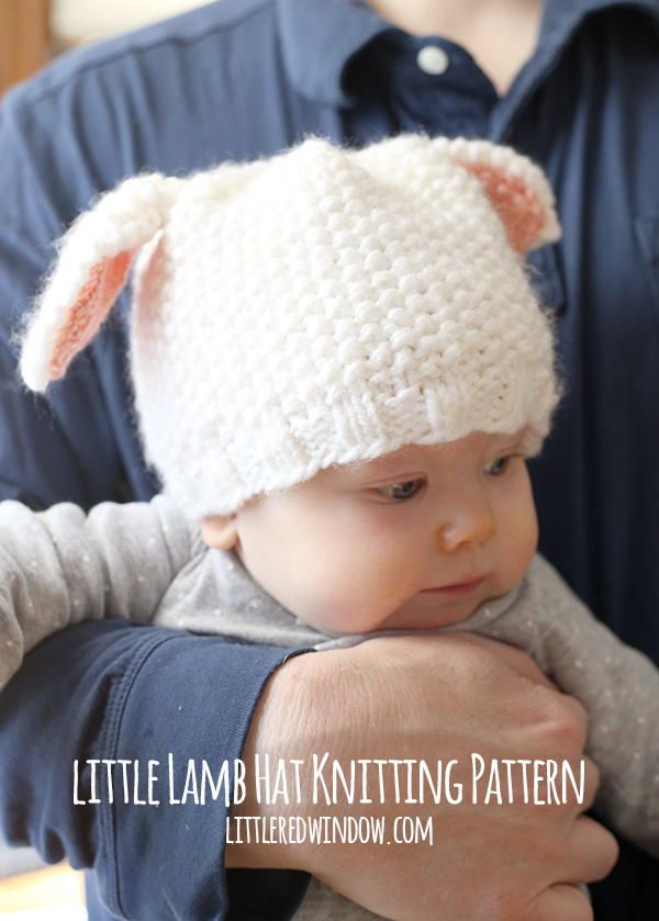 Little Lamb Baby Hat | Is this not the cutest knit baby hat you've ever seen?