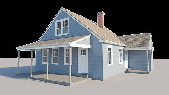 3 Bedroom House Plans W Loft Diy Home Building Project Guest Cottage 840 Sq Ft Building Plans House Building A House Bedroom House Plans