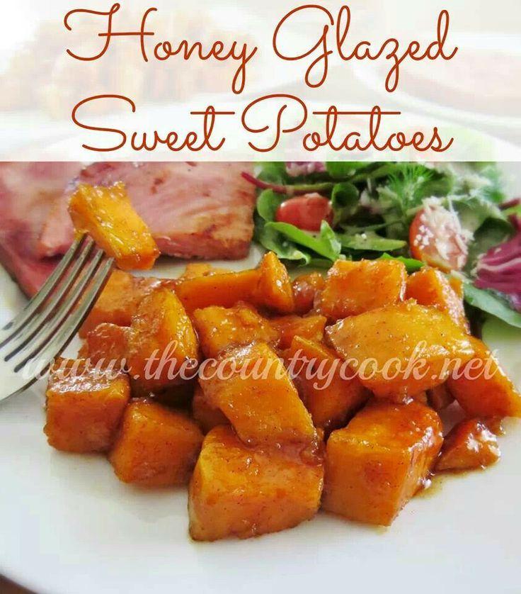 Honey glazed sweet potatoes | Recipes I've tried and liked | Pinterest