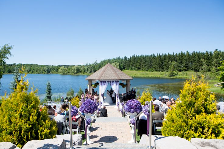 Royal Ambassador wedding ceremony overlooking water