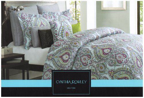 Cynthia Rowley 3pc King Duvet Cover Set Moroccan Medallion