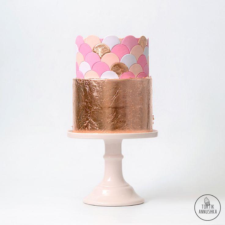 Золотой торт № 1599 на заказ в Москве