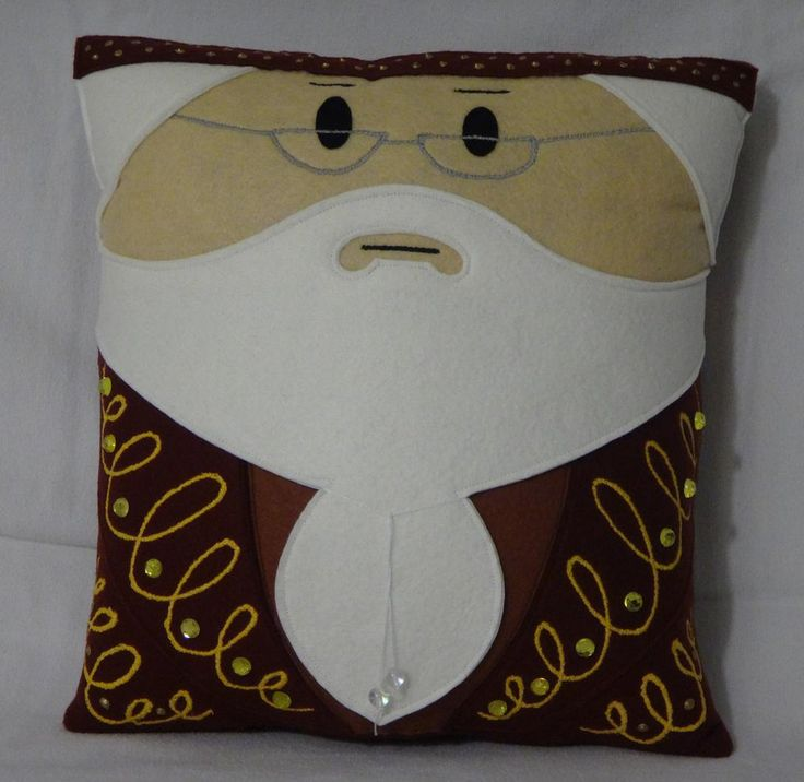 Handmade Harry Potter Dumbledore v1.43 Pillow by RbitencourtUSA.deviantart.com on @DeviantArt