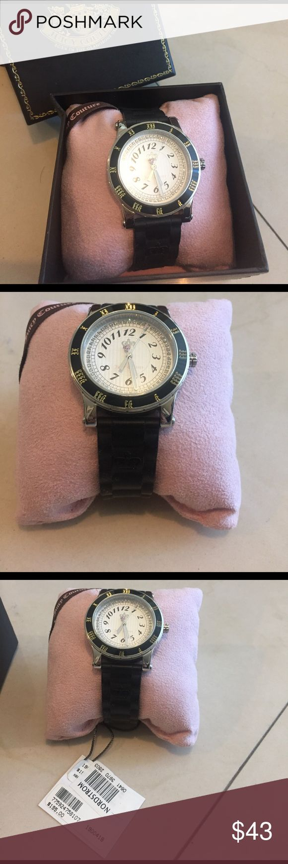 Juicy Couture watch Juicy Couture watch with black rubber band. Silver jewels on the face of the watch. Battery replacement required. Juicy Couture Accessories Watches