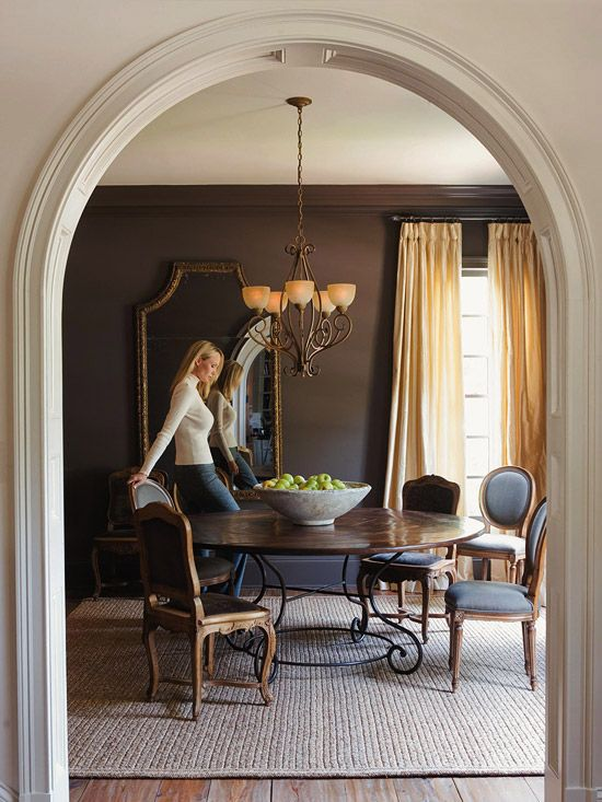 Choosing A Light Fixture. Brown Dining RoomsDining ...