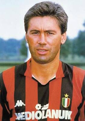 Carlo Ancelotti, AC Milan legend! One of six men to win the UEFA champions league as a player and as a coach