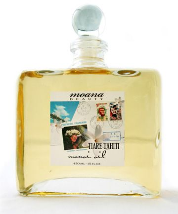 Moana Beauty Monoi Oil. Produced by enfleurage- macerating fresh tiare blossoms in light, refined coconut oil.