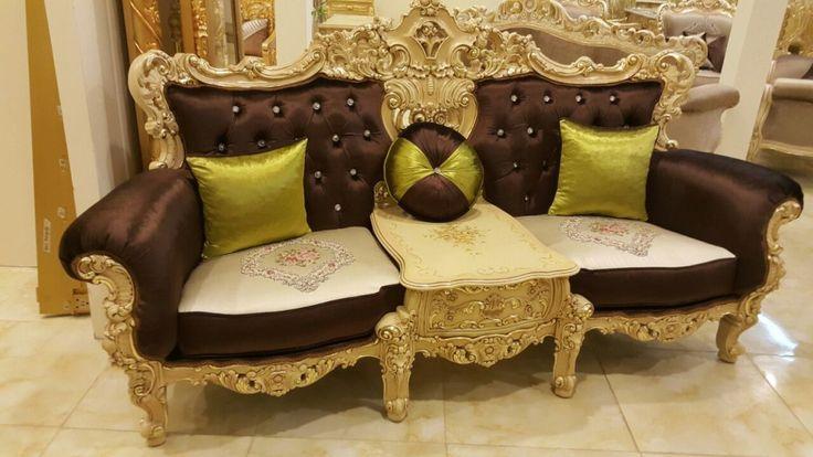 open order Set Sofa Mewah Eolo, dengan menggunakan bahan baku Kayu Mahogany Solid. sofa ini memliki type 2,1,1+1,2 Meja