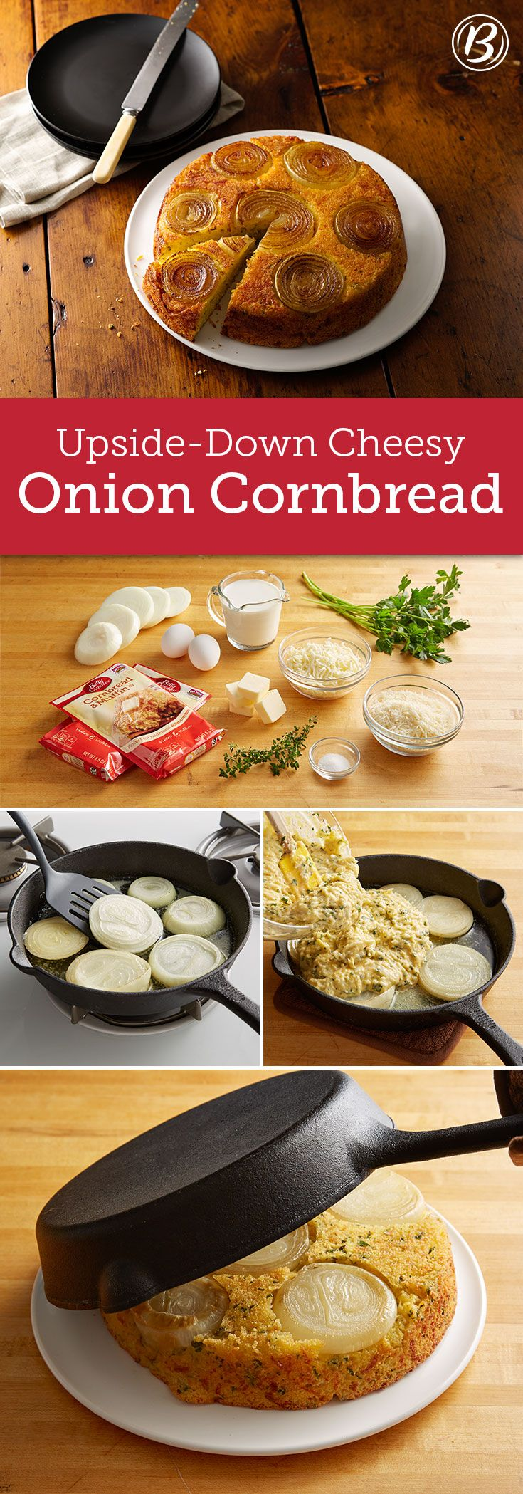 Want a beautiful and delicious bread to go along with holiday meals or even just weeknight soups? This cheesy, versatile sweet onion cornbread has got you covered!