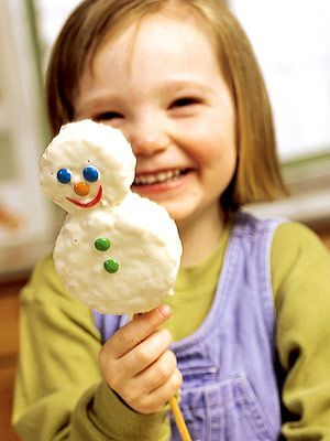 Enlist kids to help cut shapes--snow people, critters, and toys--for these easy no-bake cookies.