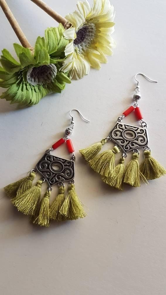 Check out this item in my Etsy shop https://www.etsy.com/listing/608509783/handmade-earrings-with-tassels-boho