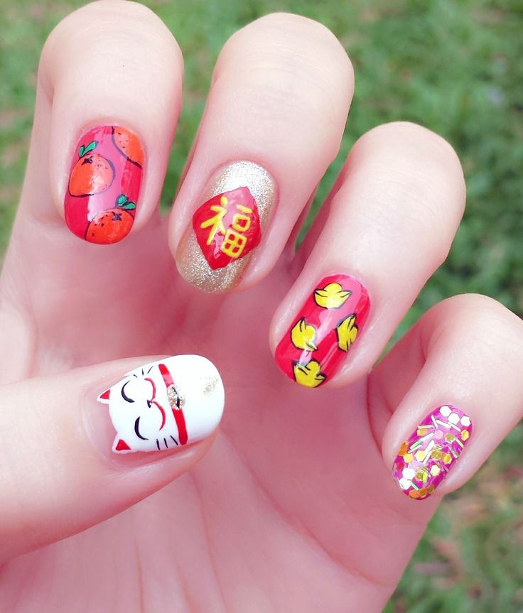 28 Best Nail Art Chinese New Year Images On Pinterest Nail Art