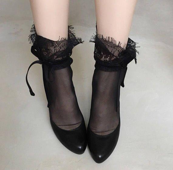 Socks lace socks nylon tulle socks fishnets clothes