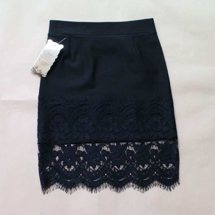 New 2015 Spring Women Skirt Lace Stretch Office Black Pencil Skirts