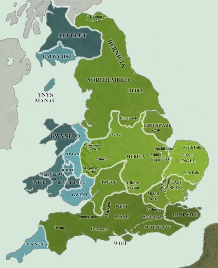Map of England AD 700 483 best