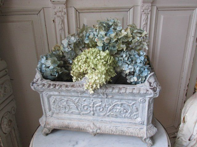 Omg Old Vintage Cast Iron French Garden Urn Planter Ornate