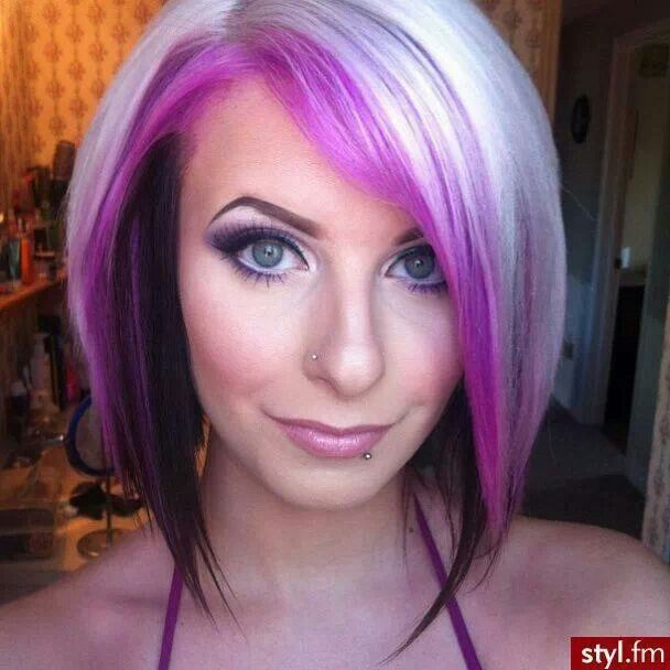 blonde hair: Hair Ideas, Hair Colors, Hairstyles, Purple, Hair Styles ...