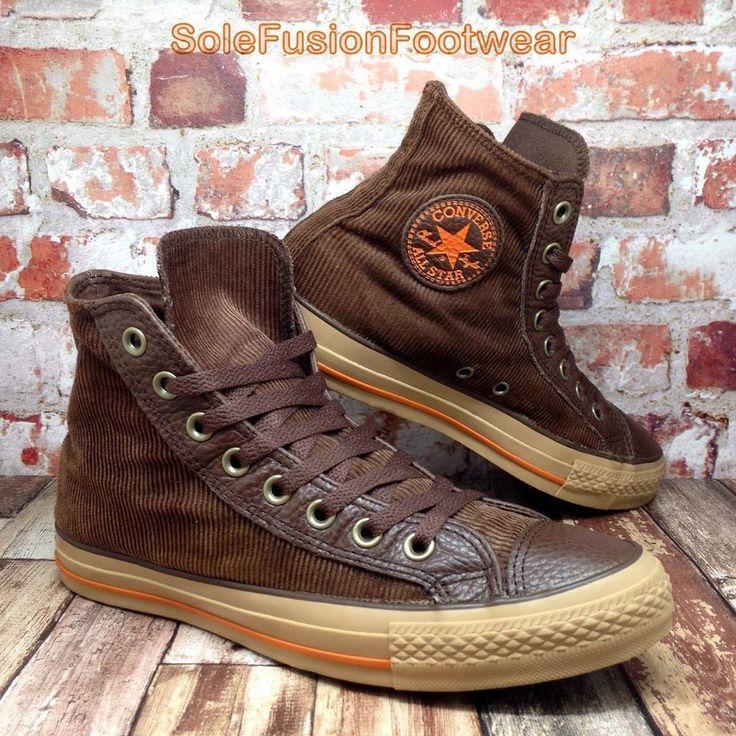 Converse Mens All Star Corduroy High Trainers Brown sz 7 VTG Boot Womens US 9 40  | eBay