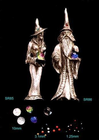 Fantasy Wizard and Witch Figure Molds for mold making.