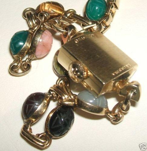 Massiv 14K 585er Gold Hamilton Armbanduhr Ägypt. Skarabäus Edelstein Armband Uhr | eBay