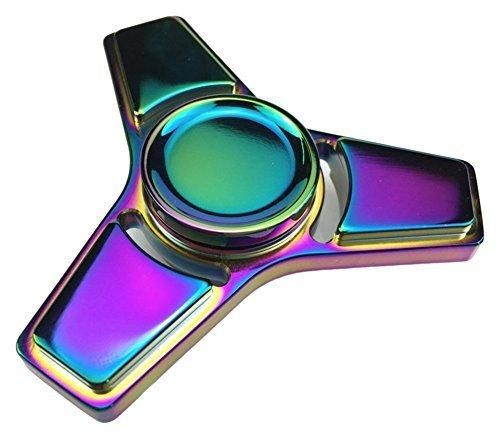 New Style Fidget Hand Spinner Stress Relief Anxiety Stress Relief Toy Multi Color Painted (Metal - Purple)