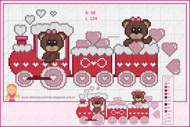 �������� ��� �������/ train cross stitch patterns