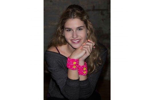Red Heart Reflective Teen Wrist Cuffs