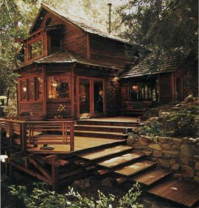 Deck ideas beautiful cabin decks and decks for Log home decks