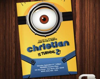 17 best ideas about minion party invitations on pinterest, Party invitations