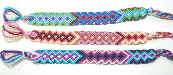 Friendship Bracelet Diamond Made to Order Buy by EmbroideryFloss