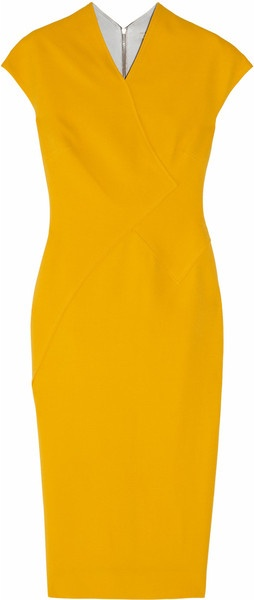 VICTORIA BECKHAM 100 Silk and Wool-blend Double-crepe Dress                                                                                                                                                     More