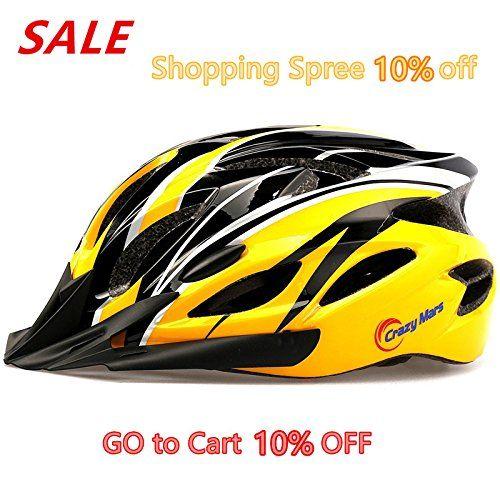 BMX Helmets - Ultralight Stable RoadMountain MensWomens Bike Helmetyellowblack ** More info could be found at the image url.