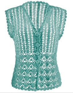 crocheted top with chart and graph pattern
