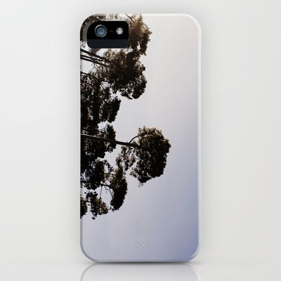 I don't mean to awkwardly promote myself, but I'm so tempted to buy this cover for my own phone. I'm loving how the camera sneakily peeks out the trees. Tree Tops iPhone & iPod Case by Golden Sabine - $35.00