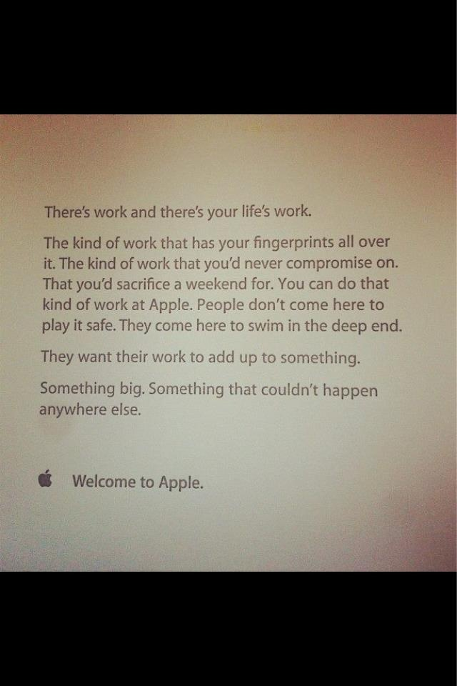 Appleu0027s welcome letter to new employees is quite inspiring - welcome letter