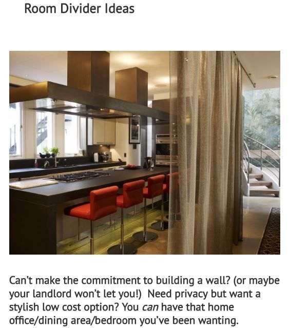Images Of Room Divider Ideas