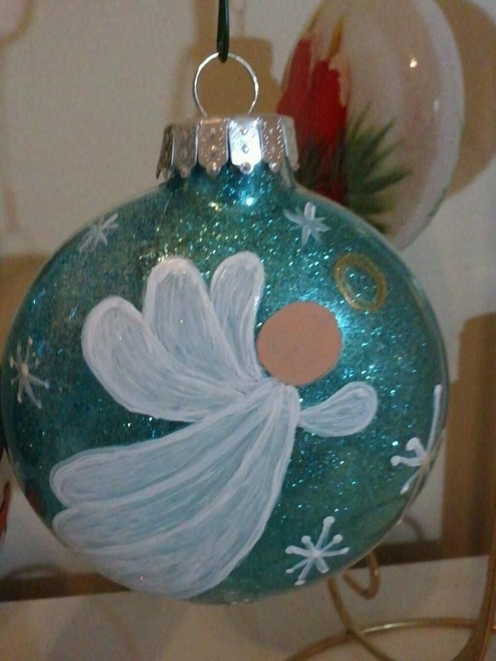 614 best images about stain glass angels on pinterest for Glass christmas balls crafts