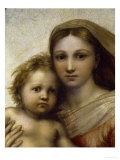 "The Sistine Madonna - Raphael    I love Raphael's potrayal of Mary in this work, everyone always concentrates on the angels. The far away look in Mary's eyes, away from the baby. Sort of pensive. Like ""OMG I can't believe I had a baby and I'm a virgin"". More realistic to the myth, methinks."