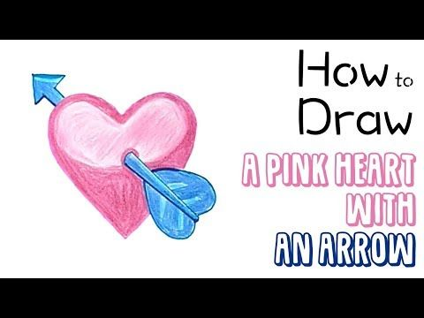 How to Draw a Pink Heart with an Arrow 💘