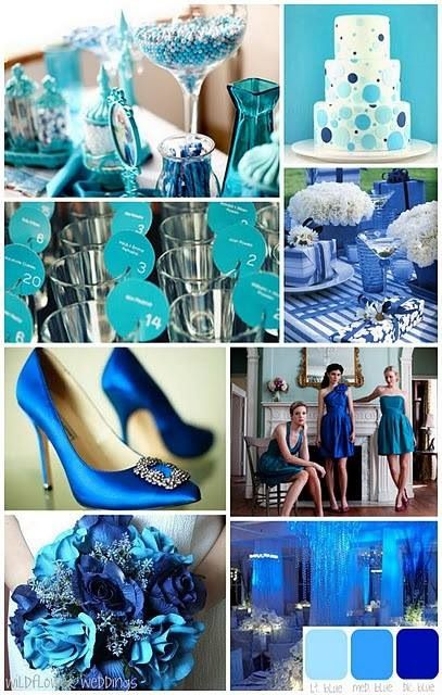 Blue, teal and aqua. I absolutely live all those colour especially if your having a summer wedding.