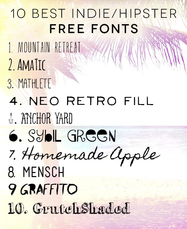 Best hipster indie free fonts freefonts