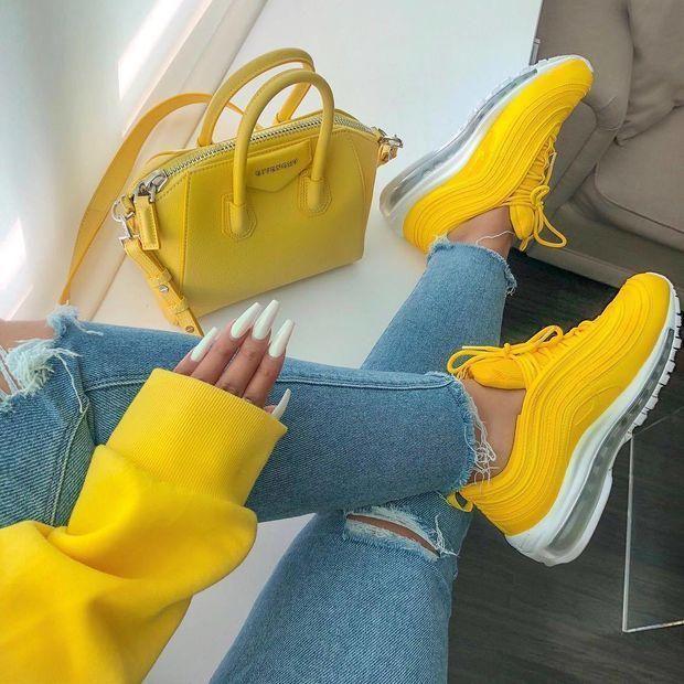 Nike Air Max 97 air cushion yellow | dad shoes in 2019