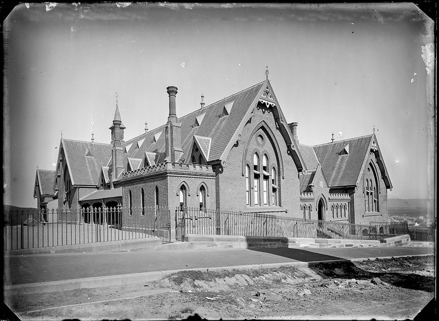 Newcastle Public School, Newcastle, NSW, [1886] by Cultural Collections, University of Newcastle, via Flickr