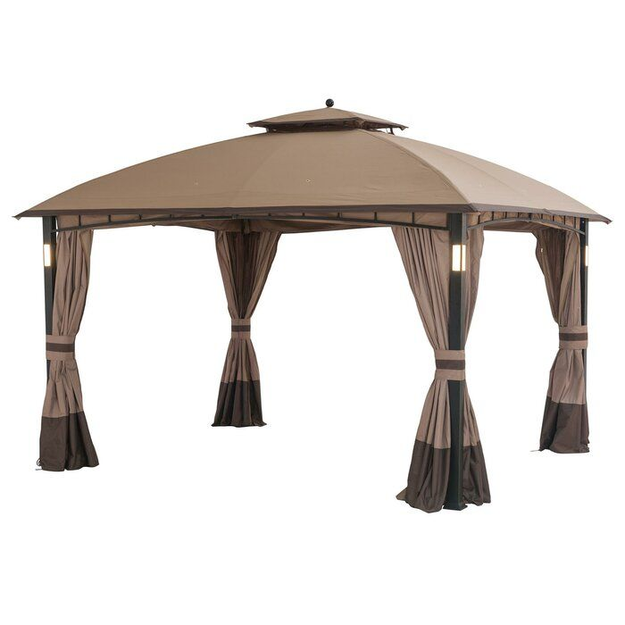 Moorehead 12 Ft W X 10 Ft D Steel Patio Gazebo In 2020 Patio Gazebo Gazebo Patio