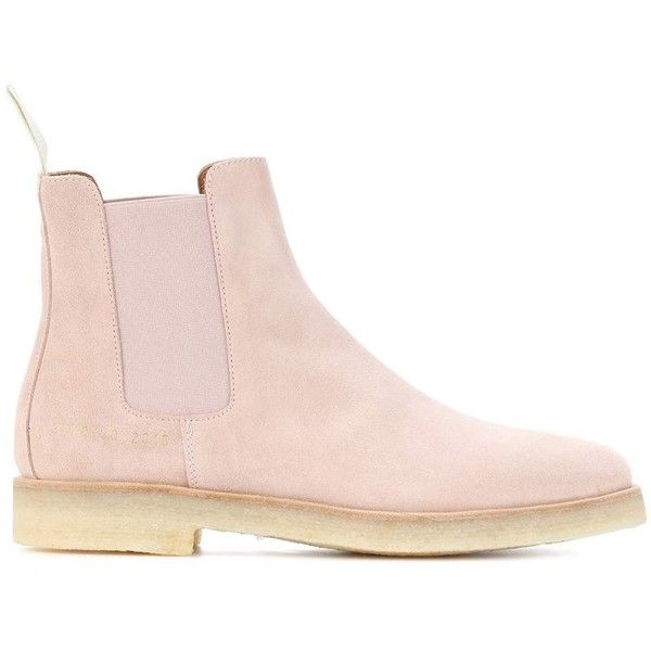 Suede Chelsea boots (€455) ❤ liked on Polyvore featuring shoes, boots, chelsea bootie, chelsea ankle boots, suede leather boots, pink suede boots and beatle boots