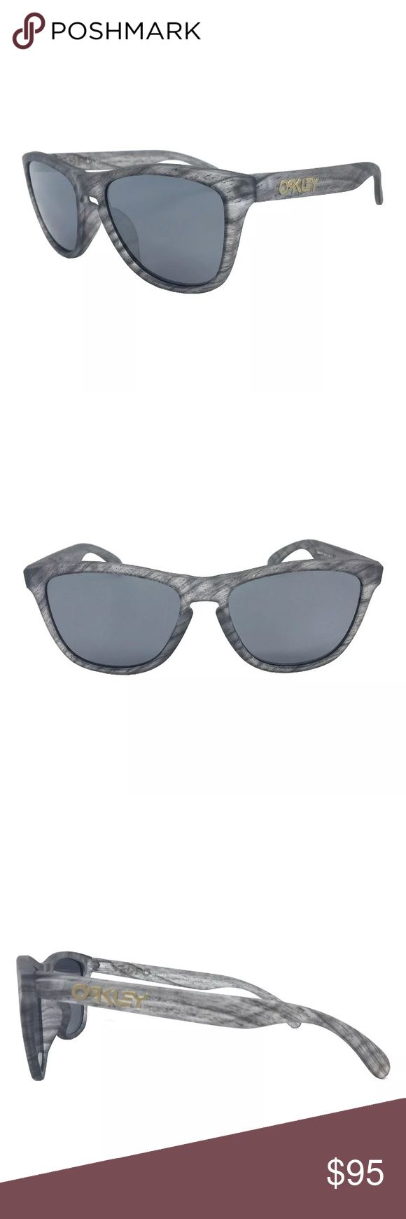 Oakley frogskins sunglasses NIB Oakley frogskins sunglasses  Clear matte woodgrain  Absolutely perfect condition  No scratches...took out to take pics only Oakley Accessories Sunglasses