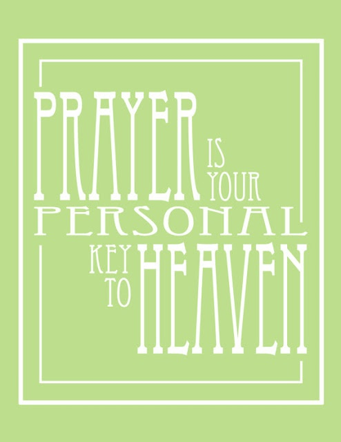 """Prayer is your personal key to Heaven"" Found on Etsy by Lexiphilia."