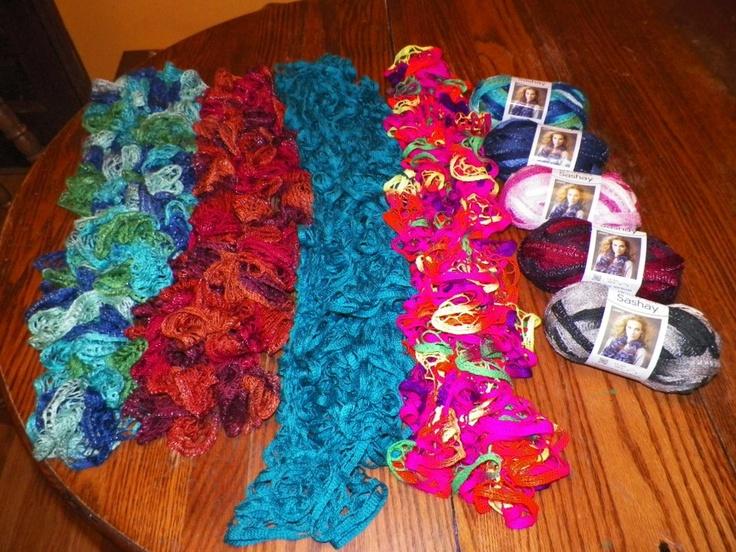 1000+ ideas about Sashay Yarn on Pinterest Ruffle Yarn, Sashay Scarf and Ru...