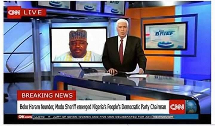 CNN Refers To PDP Chairman, Modu Sheriff As 'Boko Haram Founder' In Live Breaking News Coverage: (Snapshot) News World UpdatesNews World UpdatesNews World Updates