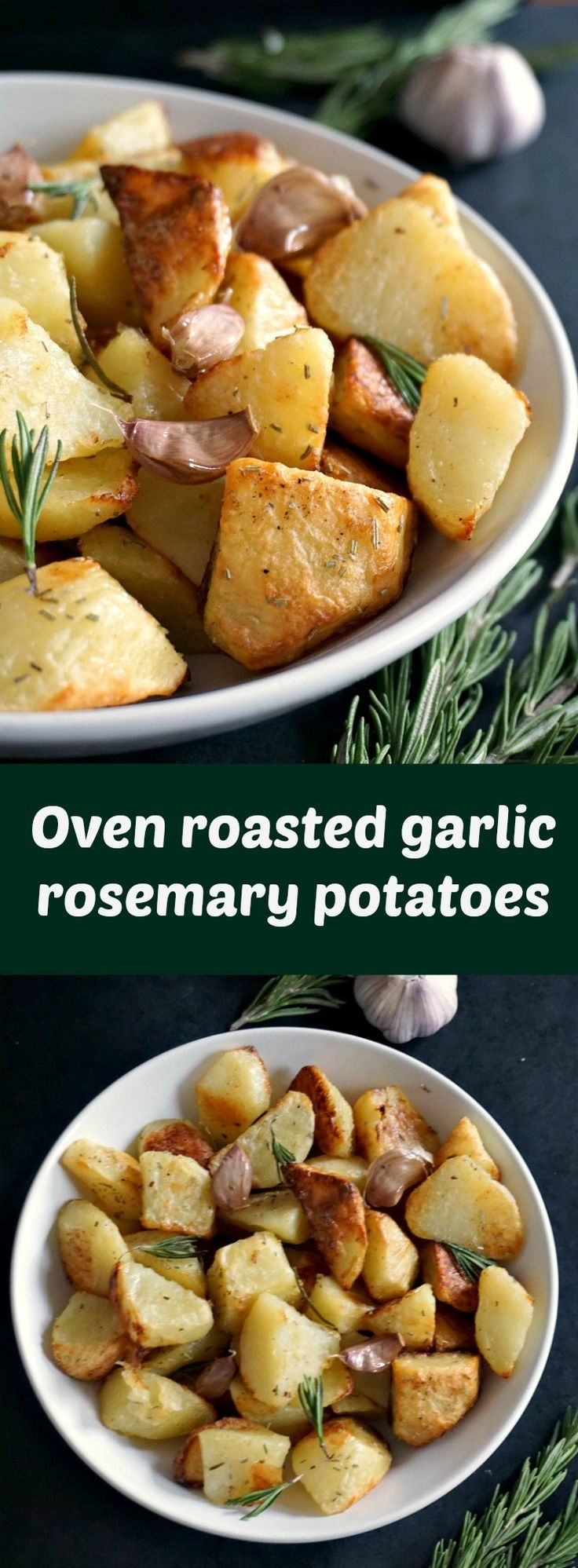 Oven roasted garlic rosemary potatoes, the best side dish for that juicy Thanksgiving Turkey, or for the Christmas Dinner. Sunday Roast wouldn't be the same without them either. Let's dig in.